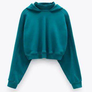 NWT Zara LIMITED EDITION Sea Green Hoodie XS-S